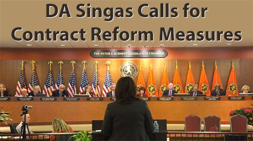 District Attorney Singas Calls for Contract Reform Measures